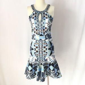 Hale Bob Priya Geometric Pattern Dress